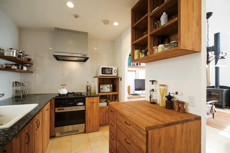 無添加住宅のキッチンリフォーム 02