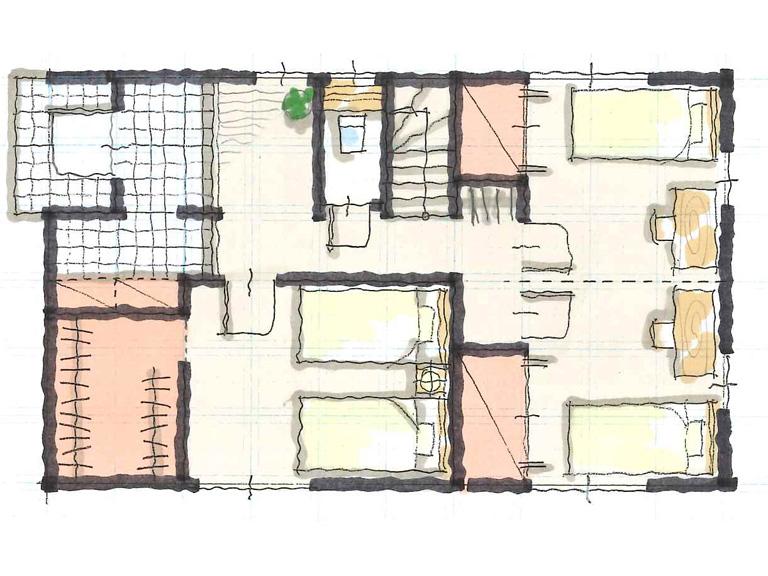 無添加住宅間取り図1F